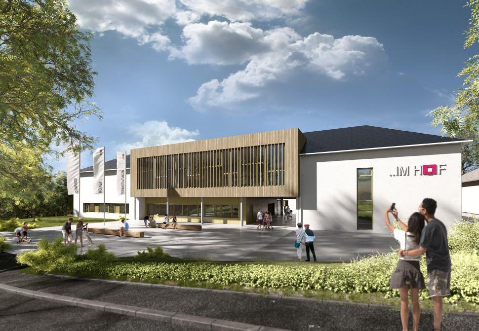 Pläne des neuen Gemeindezentrums